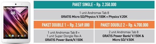 Bonus Pembelian Smartfren Andromax Tab 8
