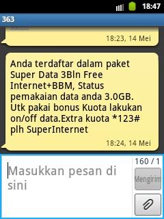 Cek Kuota 3GB Kartu Mentari Super Data
