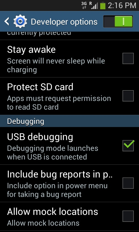 Aktifkan USB Debugging Samsung Galaxy Ace 3