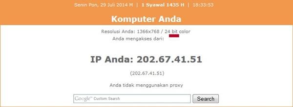 IP static Kartu Tri AON