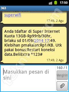 Daftar Paket Super Internet Kuota 13GB Indosat
