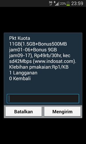 Paket Super Internet Indosat Kuota 11GB