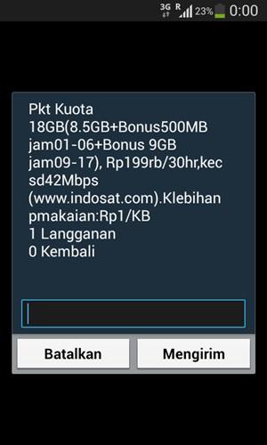 Paket Super Internet Indosat Kuota 18GB
