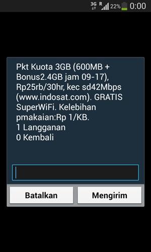 Paket Super Internet Indosat Kuota 3GB
