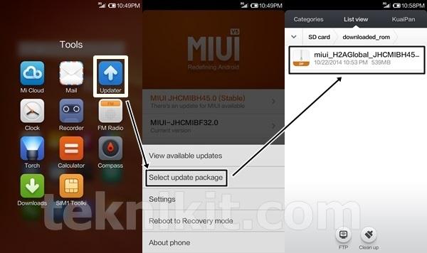 Cara Update Manual Xiaomi Redmi 1S