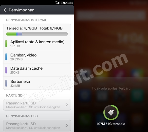 Memory Internal dan RAM Xiaomi Redmi 1S