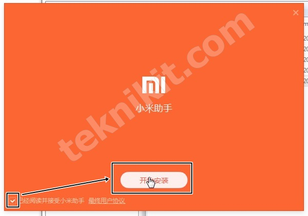 Proses Install Mi Phone Manager Xiaomi Redmi 1S