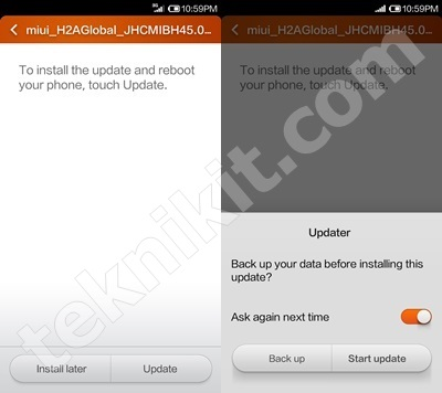 Update ROM Xiaomi Redmi 1S