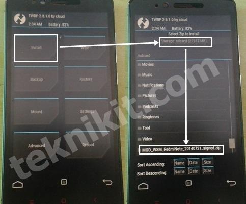Cara Install WSM Redmi Note