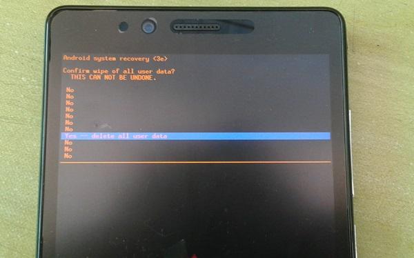 Confirm Factory Reset Xiaomi Redmi Note