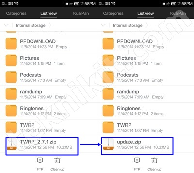 Install TWRP di Xiaomi Redmi 1S