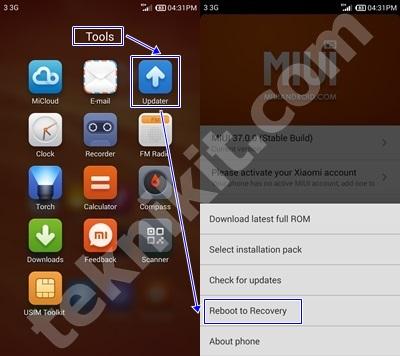 Masuk ke Recovery Mode Install WSM Redmi Note
