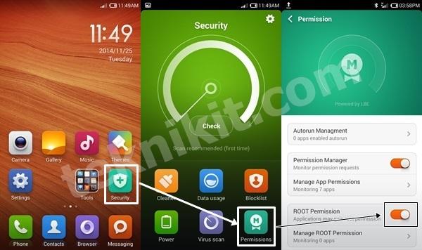 Mengatur Root Permission Xiaomi Redmi Note