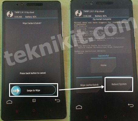 Sukses Install WSM Tool Redmi Note