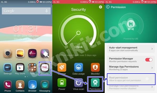 Xiaomi Redmi 1S Sebelum Root