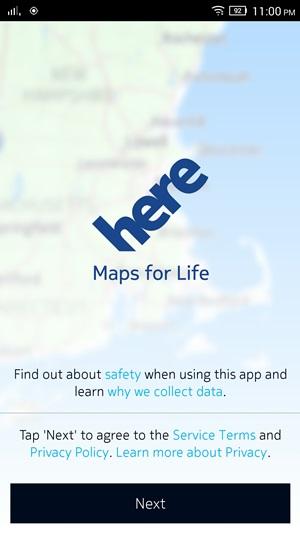 Aplikasi Maps Offline HERE Maps