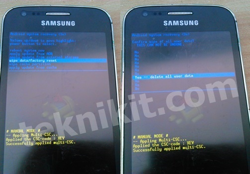 Factory Reset Samsung Galaxy Ace 3