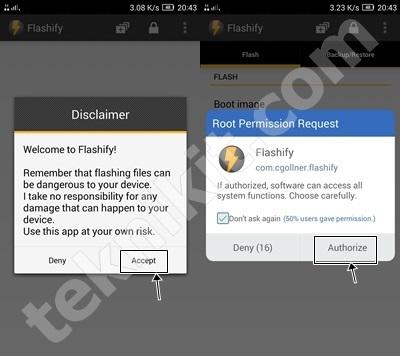 Buka Aplikasi Flashify Lenovo Vibe X2