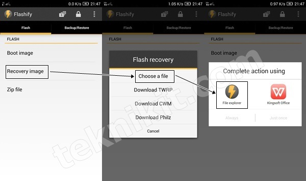 Pilih Recovery TWRP Lenovo Vibe X2