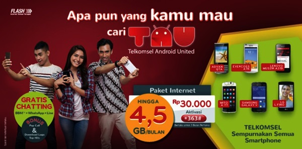 Paket TAU Android One Nexian Journey One