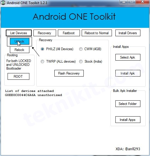 Unlock Bootloader Android One Nexian Journey One