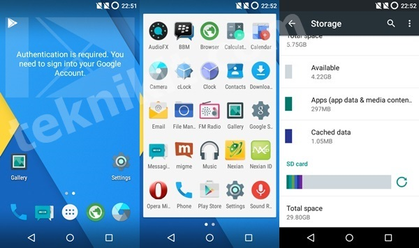 CM12 Beta 3 Android One Nexian Journey One