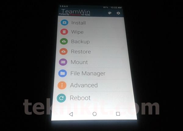 TWRP Lenovo Vibe X2 Android Lollipop