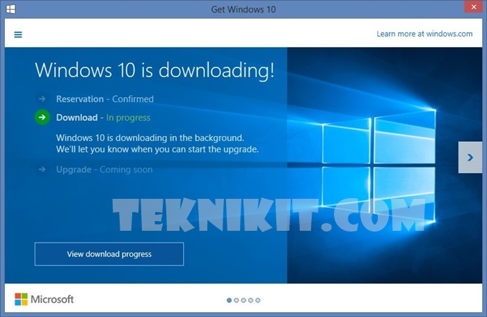 Notifikasi Download Windows 10