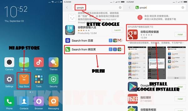 Install Google Installer Redmi Note 2