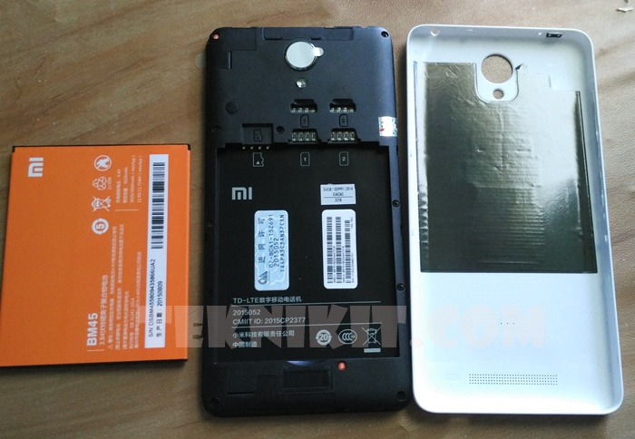 Posisi Sim Card Xiaomi Redmi Note 2