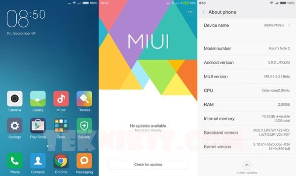 Tampilan MIUI 7 Xiaomi Redmi Note 2
