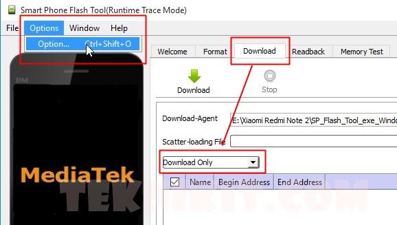 Menggunakan SP Flash Tool Redmi Note 2