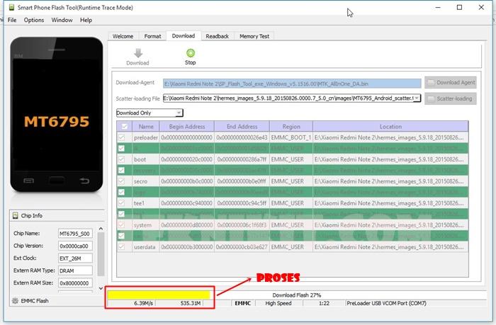 Proses Flashing Redmi Note 2 Dengan SP Flash Tool