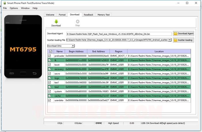 SP Flash Tool Untuk Redmi Note 2