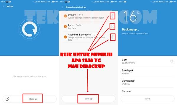 Backup Xiaomi Mi 4i