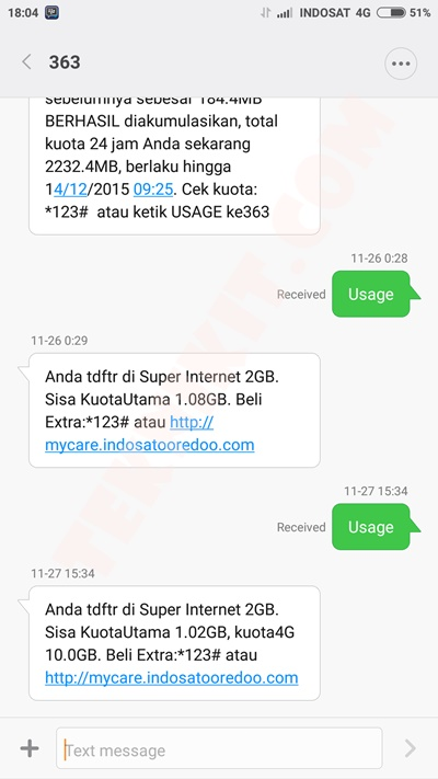 Bonus Kuota 10GB Tukar Kartu Indosat 4G