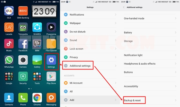 Cara Backup Data Mi 4i