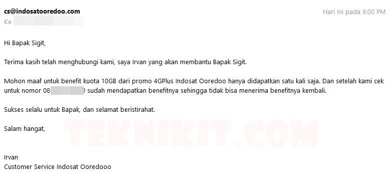 Bonus 10GB Indosat 4G Cuma Sekali