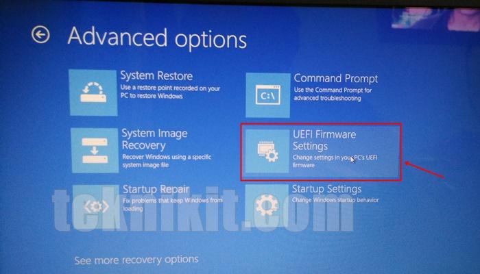 Change UEFI Firmware Settings