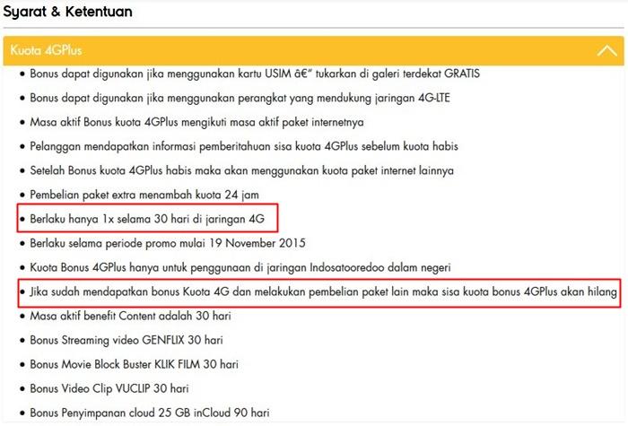 Syarat dan Ketentuan Bonus 10GB Indosat 4G