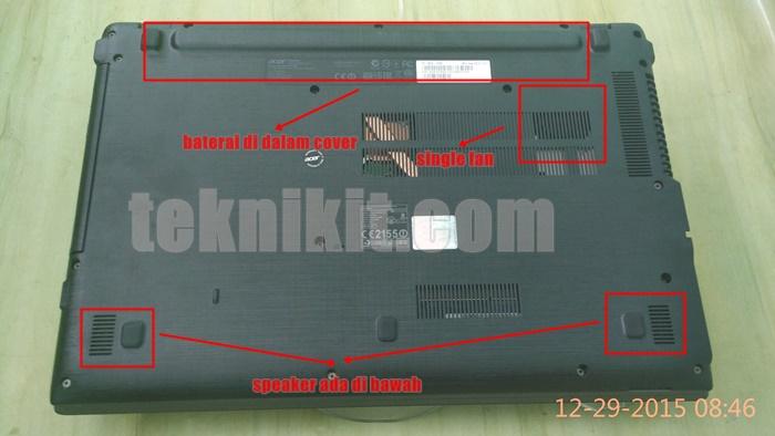 Acer Aspire E5-552G Tampak Bawah