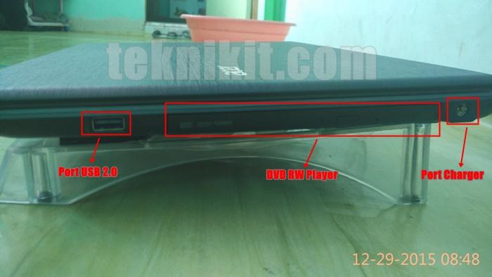 Acer Aspire E5-552G Tampak Samping Kanan