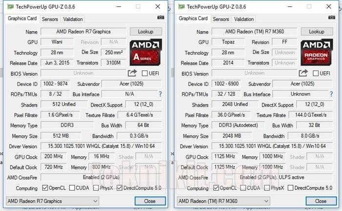 Tampilan GPU Z Acer Aspire E5-552G