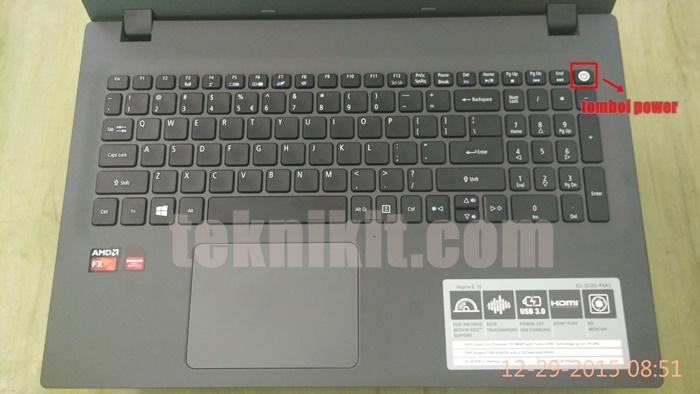 Tampilan Keyboard Acer Aspire E5-552G