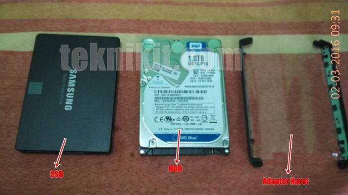 Cara Pasang SSD ke Laptop