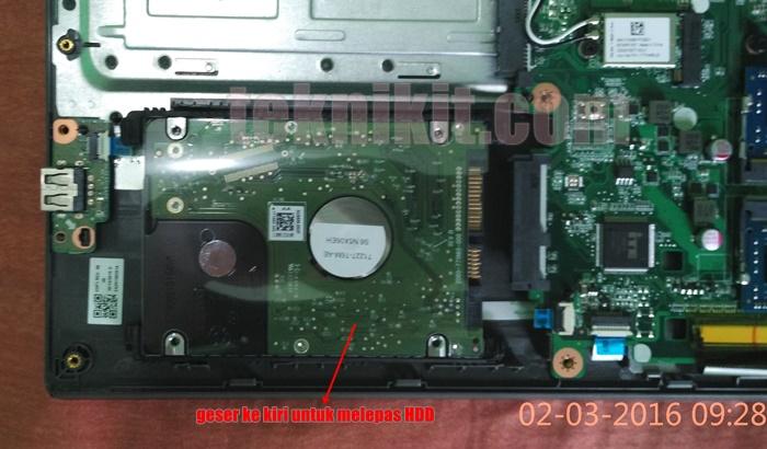 Melepas HDD Acer Aspire E5-552G