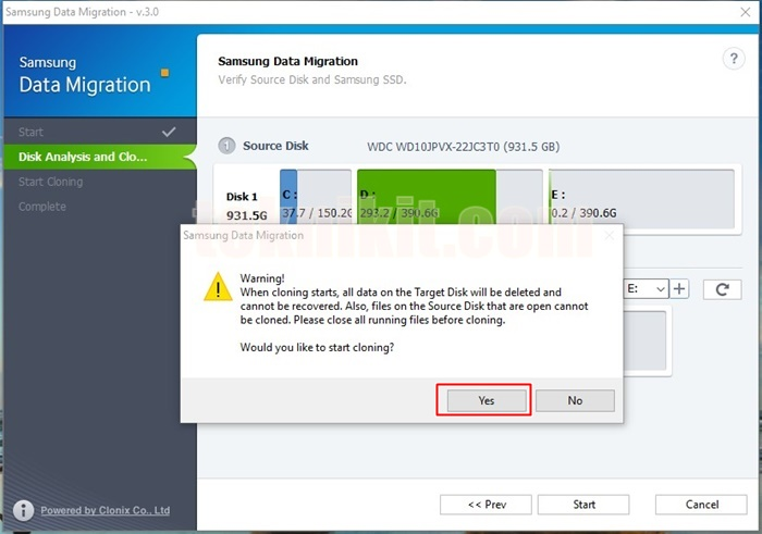 Muncul Peringatan Saat Proses Pindah OS Windows