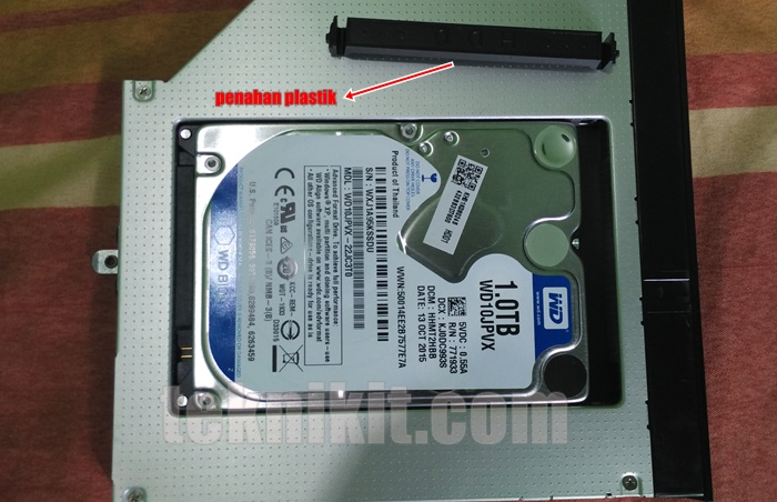 Pasang HDD Laptop ke HDD Caddy