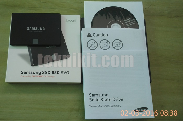 Penampakan SSD Samsung EVO 250GB