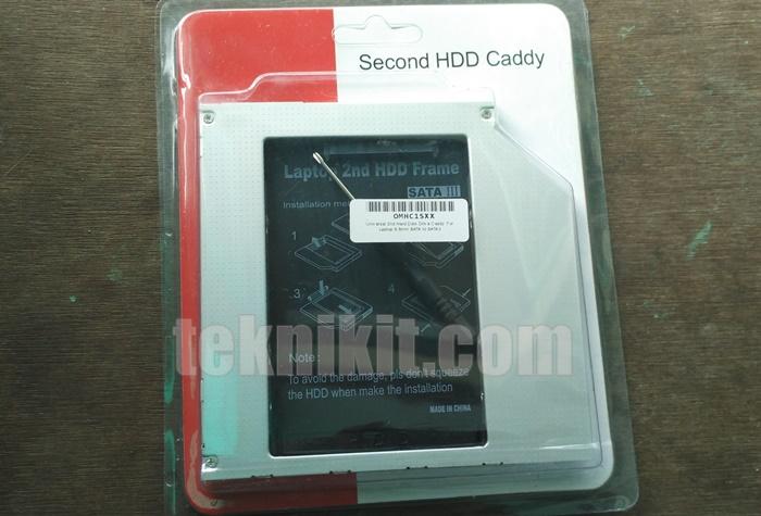 Penampakan Second HDD Caddy 9.5mm